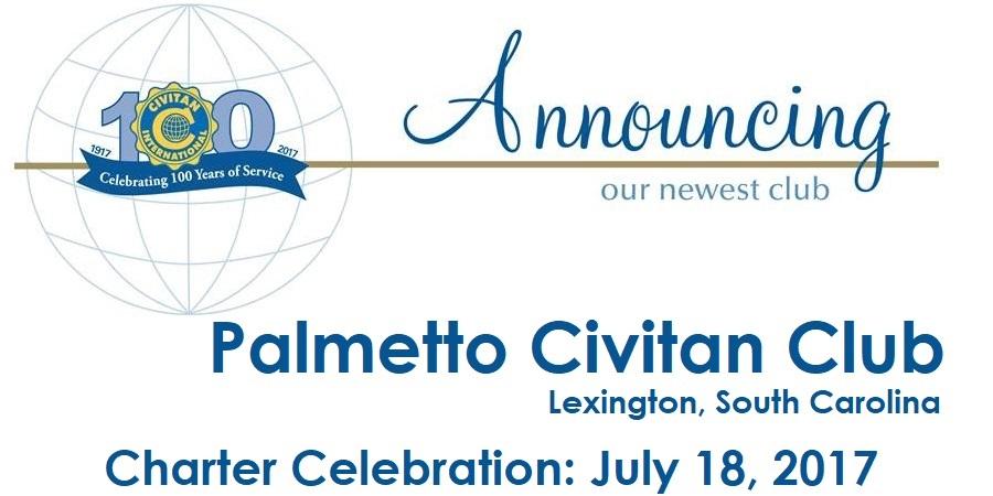 Palmetto Civitan Club Charter