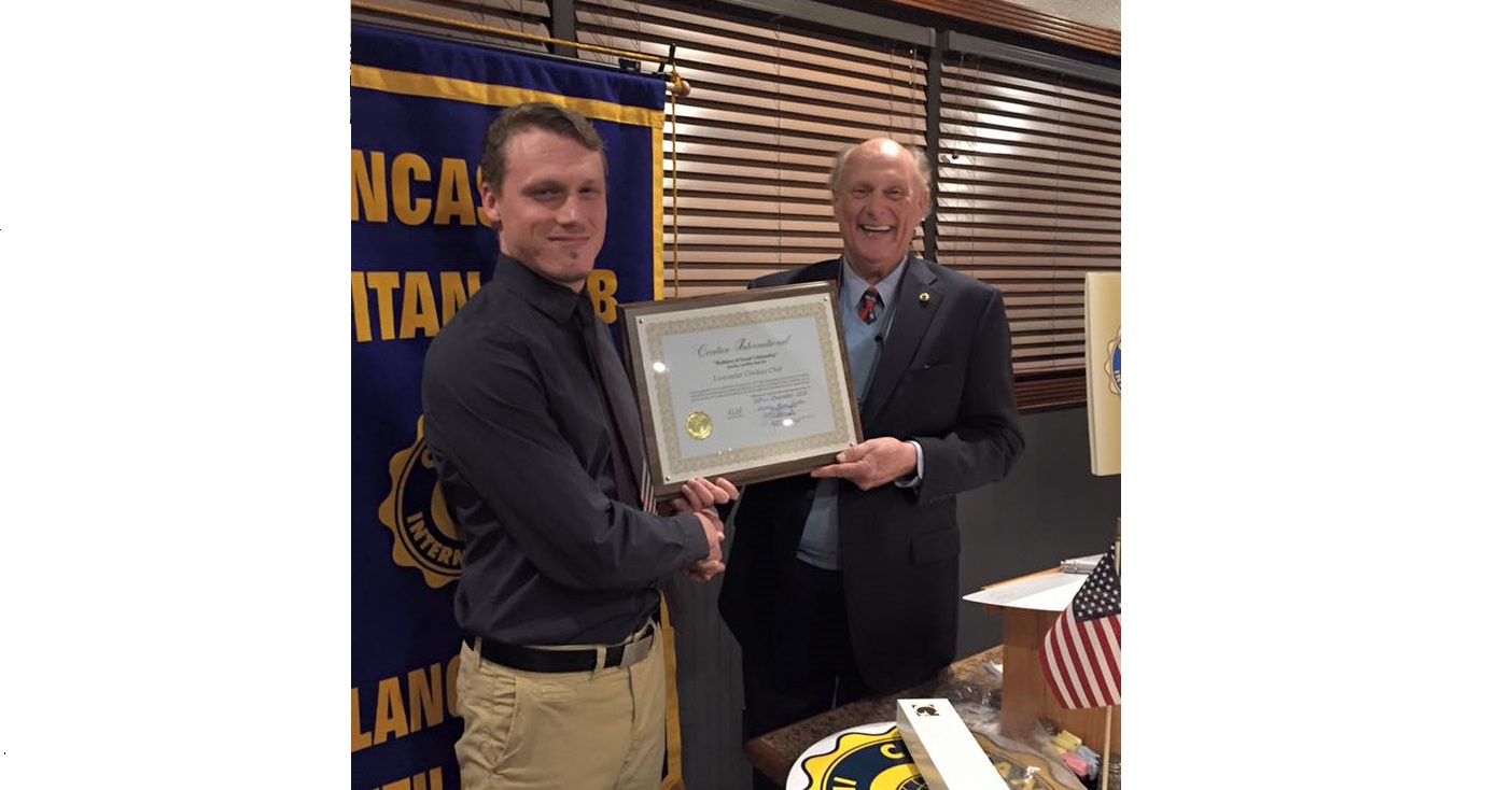 Lancaster Civitan Club Charter presentation