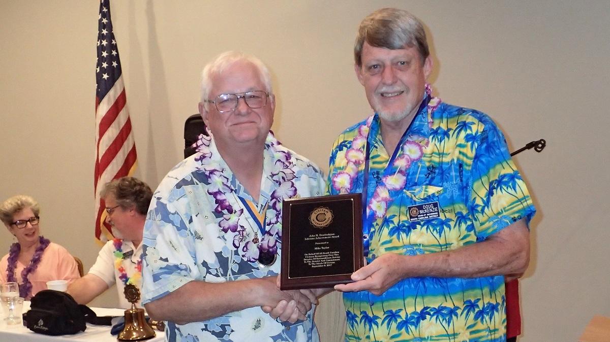 Mike Taylor presented John Doudoukjian Lifetime Achievement Award