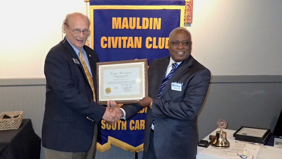 Mauldin Civitan Club Charter presentation