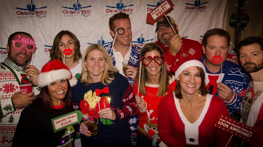 Ugly Christmas Sweater Bar Crawl with Hilton Head Civitan Club