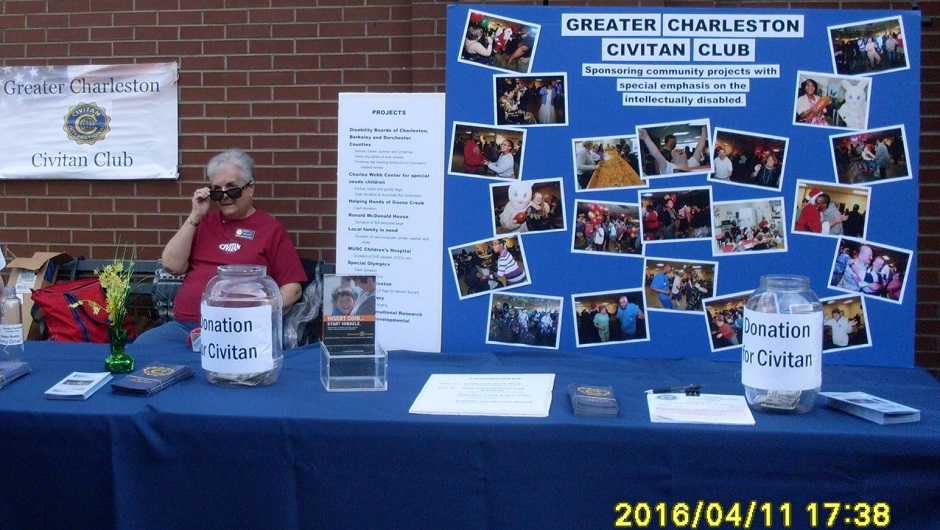 Greater Charleston Civitan Club awareness display